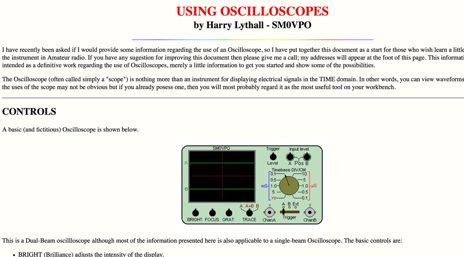 Using Oscilloscopes