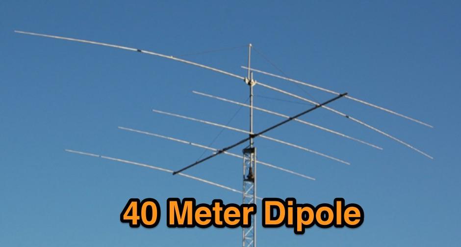 40 meter dipole for Esstisch 1 40 m