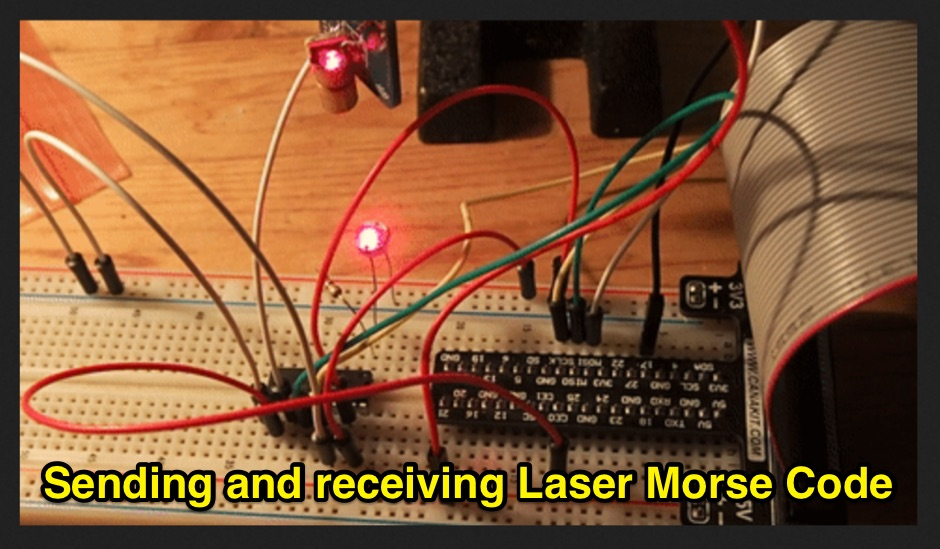 Sending and receiving Laser CW signals with a Raspberry Pi