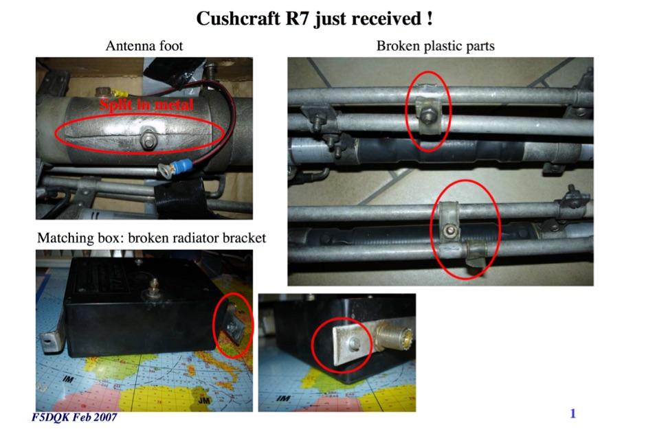 Cushcraft R7 repair and tests