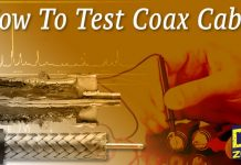 How to test coax cable