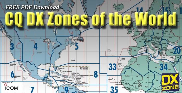 CQ DX Zones World Map