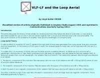 VLF-LF And the Loop Aerial
