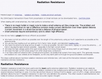 Small antennas and radiation resistance