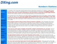 Numbers Stations by dxing.com