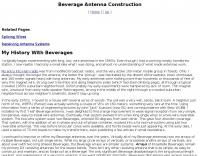 Beverage Antenna Construction