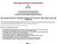 K1FZ Beverage Antenna Transformers