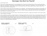 Beverages: How Short Can They Be