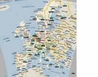 10 Meters - European beacons map