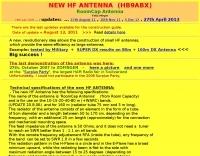 New HF antenna HB9ABX