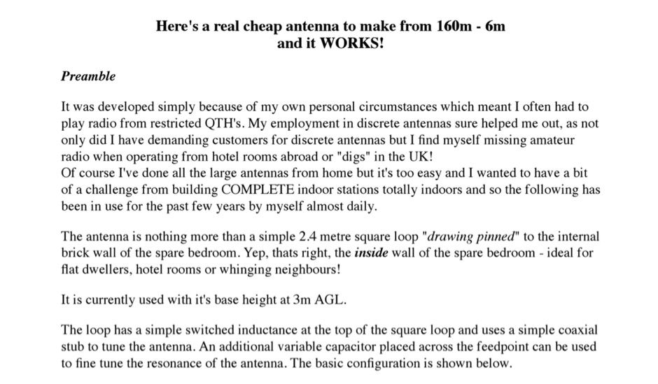 Cheap antenna to make from 160m - 6m