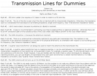 Transmission lines for dummies