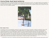 Home Brew VHF UHF dual band antenna
