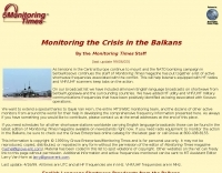 Monitoring the Crisis in the Balkans