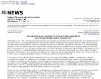 FCC  Facilitate SDR technology