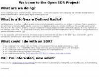 OpenSDR -- Software Defined Radio