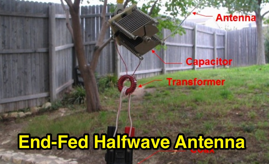 End-Fed Halfwave Antenna