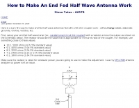 How to make an end-fed antenna work