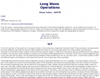 Longwave operations