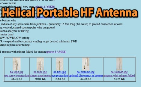 A two dollar helical hf portable antenna