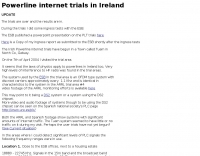 PLT trials in Ireland