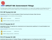 Amsat-na government filings