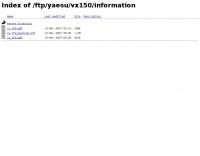 Yaesu VX-150 information