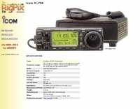 Icom - IC-706 Picture and data