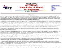 Antenna tips for the beginner