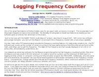Build a logging frequency counter