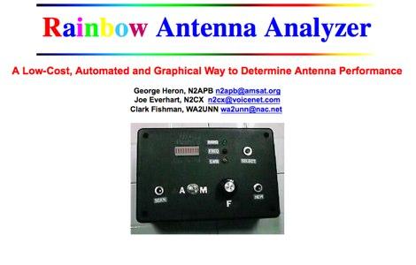Rainbow Antenna Analyzer
