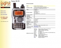 Rigpix database -Yaesu - VX-7R