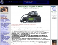 Easy programming the V8000 with the hand microphone