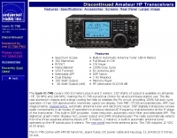 Icom IC-746 specifications