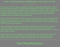 Low cost frequency stabilisation