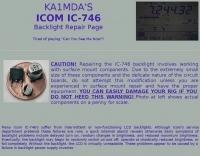 Icom IC-746 backlight repair