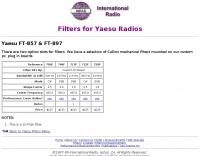 Yaesu FT-857 & FT-897 filters