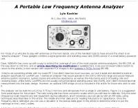 Build An LF Antenna Analyzer