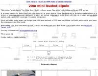 20m mini loaded dipole