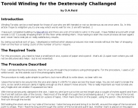 Toroid Winding