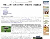 802.11b Homebrew WiFi Antenna Shootout
