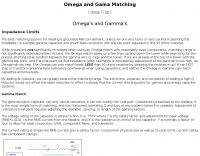 Omega and Gama Matching