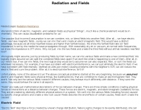 Radiation and fields