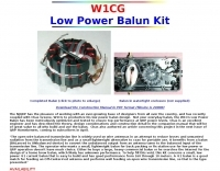 W1CG Low Power Balun Kit