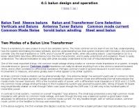 Balun single core 4:1 analysis