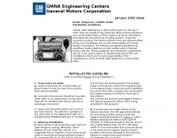 GM  Mobile RadioInstallation guidelines
