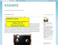 KA6WKE Mobile installation blog