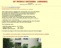 HF Mobile Antenna HB9ABX