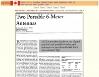 Two portable antennas for 6-meter