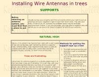 Installing Wire Antennas